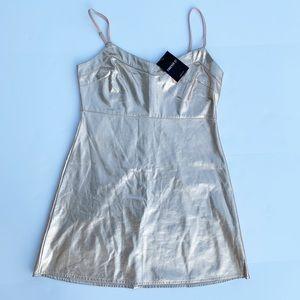 Forever 21 Gold Tank Dress